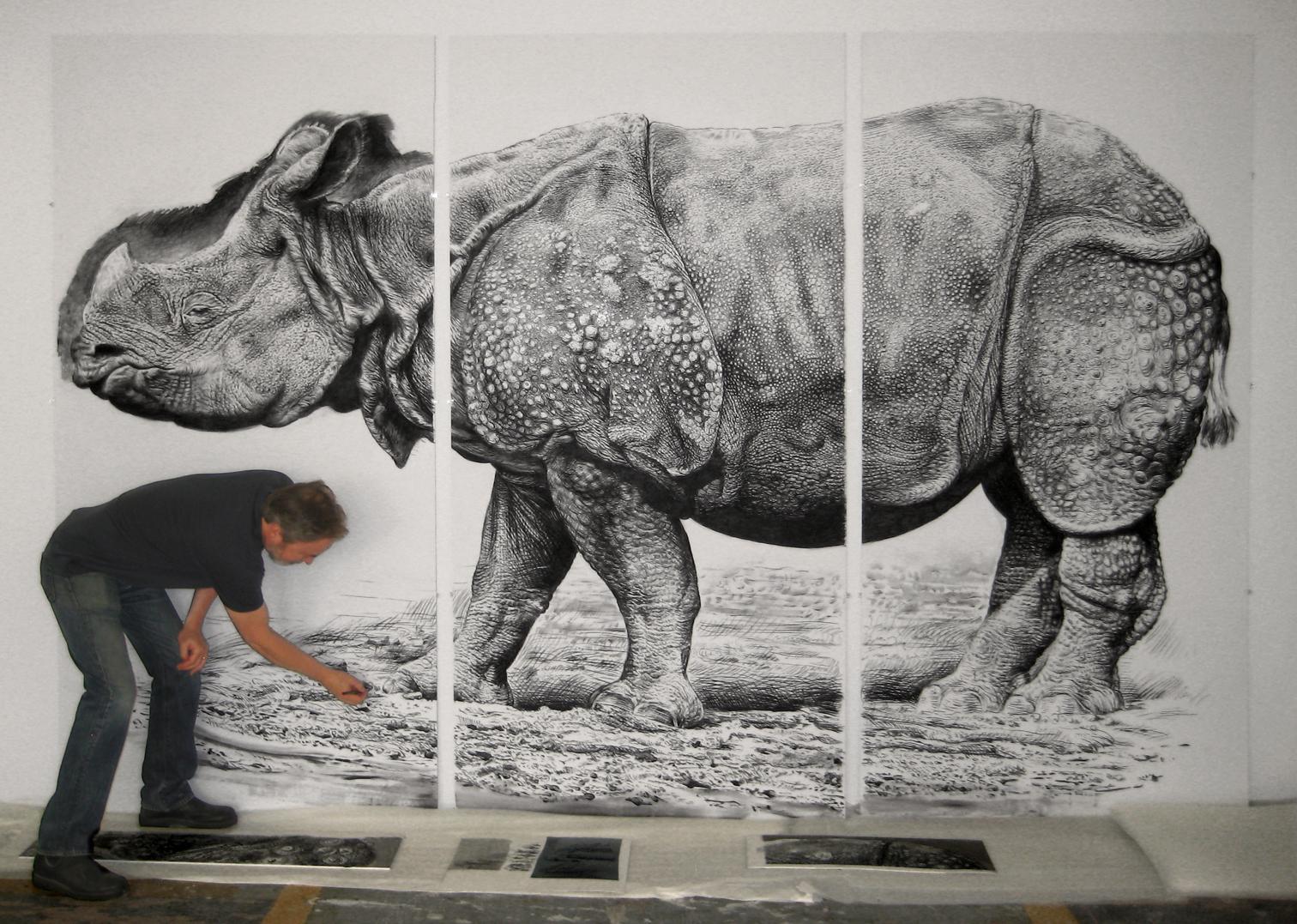 save rhino paintings