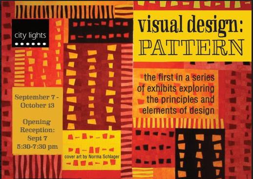 City Lights Gallery: visual design: PATTERN